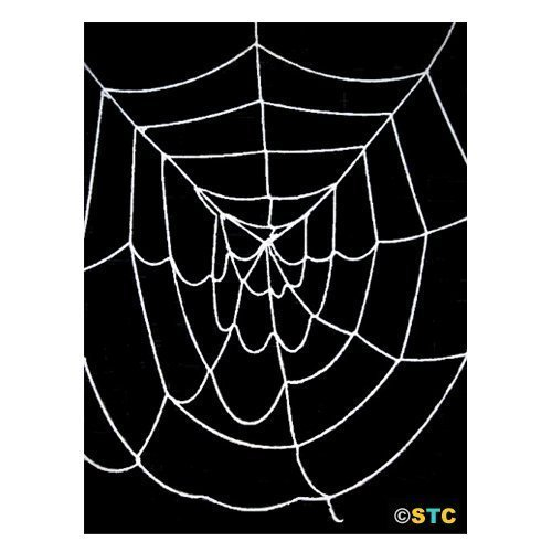 4.5' ft Deluxe Large Spider Web (Black) ~ Halloween Spider Web Decorations & Props (Large Outdoor Halloween Decorations)