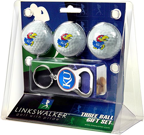 NCAA Kansas Jayhawks - 3 Ball Gift Pack with Key Chain Bottle Opener