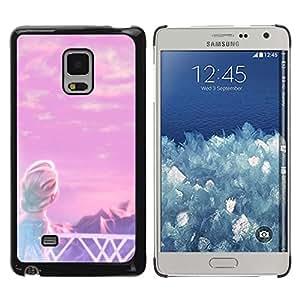 Caucho caso de Shell duro de la cubierta de accesorios de protección BY RAYDREAMMM - Samsung Galaxy Mega 5.8 9150 9152 - Fairytale Princess Children'S Mountains