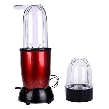 Exprimidor eléctrico del licuador Mezclador de batidos de alimentos para bebés Molinillo de carne Máquina multifuncional para hacer jugo de frutas: ...