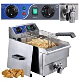 CHIMAERA Professional Stainless Steel 10L Electric Counter Top Deep Fryer with Drain