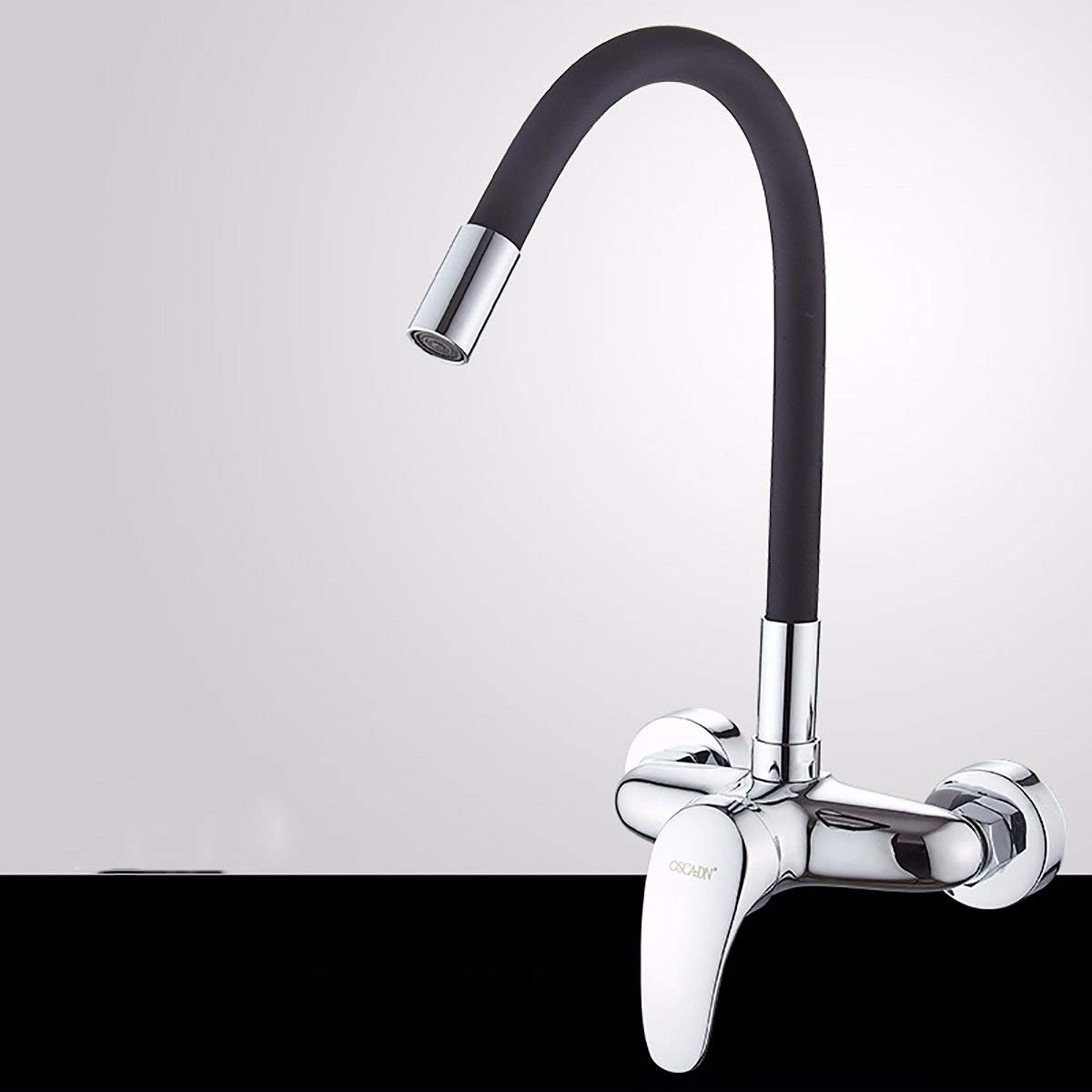 B Oudan Basin Mixer Tap Bathroom Sink Faucet Hot and cold into the wall basin faucet kitchen sink into the wall 2-hole 000 to redate the brass tap the C (color   C)