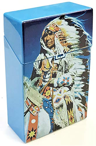 Eclipse Native American Indian Buffalo Design Crushproof Plastic Cigarette Case, 2ct, Kings, 3116IndianBuffalo-2