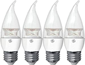 GE Lighting LED 2.5-Watt (25-watt Replacement) Bent Tip Light Bulb with Medium Base, Clear Soft White (4 Bulbs)