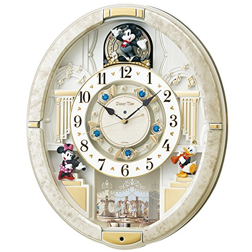 (セイコークロック) SEIKO CLOCK ディズニータイム 電波 壁掛け時計 FW580W メロディー 音楽 ミッキー ミニー ドナルドダック アナログ B06Y49X85P
