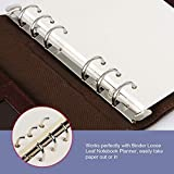 A6 Planner Inserts,Spiral Notebook Refill,6 Ring