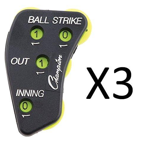 Champion Sports Counter Baseball Softball Umpire Indicator Clicker (3-Pack)
