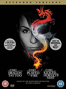 The Girl with the Dragon Tattoo / The Girl who Played with Fire / The Girl who Kicked the Hornet's Nest (Extended Versions) [DVD] [Reino Unido]
