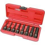 KS Tools 911.0902 Jeu de douilles à choc 6 pans 1/2'' 8 pièces