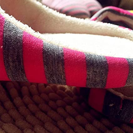 38-39 rose rouge Msyou chaud Chaussons /à rayures Motif Confort antid/érapant Automne Hiver Chaussons dint/érieur Maison Chaussures pour Benzi Taille 40/41/ Rose rouge