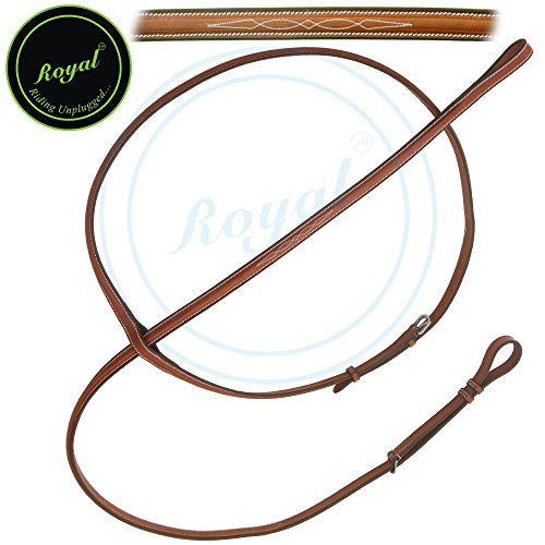 Royal Fancy Square Raised Standing Martingale./ Vegetable Tanned Leather./ Stainless Steel Buckles. (Sewn Bridle Fancy)