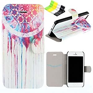 Wind Chimes Pattern PU Leather Full Body Case Have A Perfume and Phone Holder for iPhone 5/5S