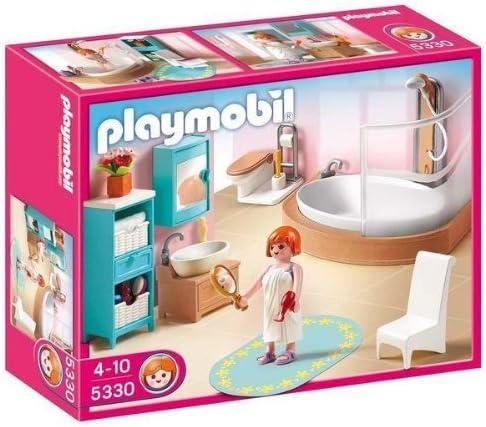 PLAYMOBIL 5330 -Cuarto de baño con bañera y mampara de ducha + ...