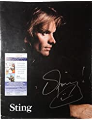 Signed Police Sting Autographed Tour Book Program Certified Jsa # P87377