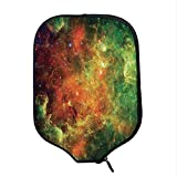 YOLIYANA Space Decorations Durable Racket Cover,North American and Pelican Nebula Gas Cosmic Planetary Object in Outer Space Decor for Sandbeach,One Size