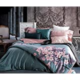 GL&G European - style wedding jacquard embroidery active printing and dyeing comfortable breathable fresh high - end bedding four - piece,D,1.5m(5ft)bed