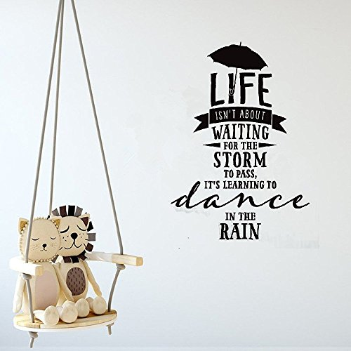 steriu Quote Vinyl Wall Decal Sticker Art Removable Words Home Decor Dance in The Rain