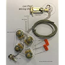 Deluxe Standard Long Shaft Wiring Kit for Gibson Les Paul - CTS 500K Pots, .022uf/400v Orange Drop Caps