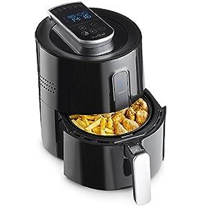 VonShef Digital Black Air Fryer For Healthy/Low Fat Cooking, Multi-Functional Fryer – Fry, Bake, Roast & Reheat – Black, 3.5L - 3 Quart