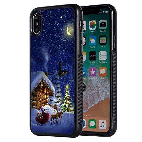 iPhone Xs Max Case,AIRWEE Slim Anti-Scratch Shockproof Silicone TPU Back Protective Cover Case for Apple iPhone Xs Max 2018,Merry Christmas Deer House