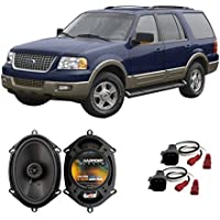 Fits Ford Expedition Fleet 2003 Front Door Factory Replacement Harmony HA-R68 Speakers