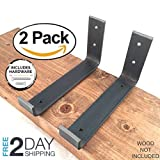 "excellent modern fireplace mantel 2 Pack - 7.25""L x 4""H Hook Brackets, Hook Iron Shelf Brackets, J Bracket, Metal Shelf Bracket, Industrial Shelf Bracket, Modern Shelf Bracket"