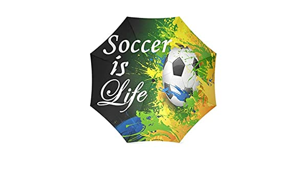 Enne paraguas fútbol es vida plegable compacto viaje paraguas lluvia viento fácil llevar: Amazon.es: Deportes y aire libre