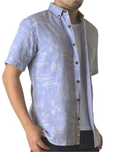 覚えている原子危機(リミテッドセレクト) LIMITED SELECT M3 半袖 シャツ メンズ アロハシャツ ボタンダウンシャツ ボタニカル フレンチリネン 花柄