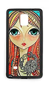 Customized A beautiful girl Cell Phone Case for Samsung Galaxy Note 4 with Artistic