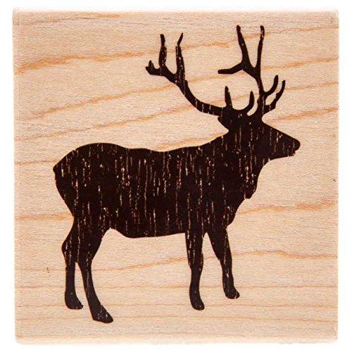 Elk Silhouette Rubber Stamp