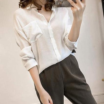 OPAKY Camisas Mujer Blusa con Botones Camisetas Tallas ...