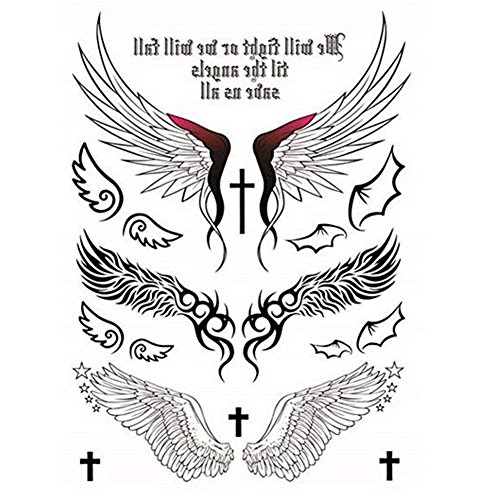 Temporary Tattoos Sticker Angel Design Wings Cross Sexy Products For Women Waterproof Tattoos Sticker 1 Pc