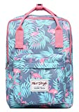 HotStyle BESTIE Cute School Backpack for Girls - Millennial Flamingos