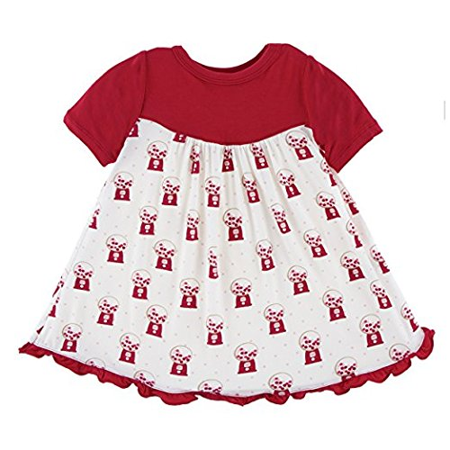 Kickee Pants Classic Short Sleeve Swing Dress - Natural Gumball Machine (12-18M) -