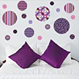 Delightful Dots Purple/Pink Repositionable Peel and Stick Wall Decals