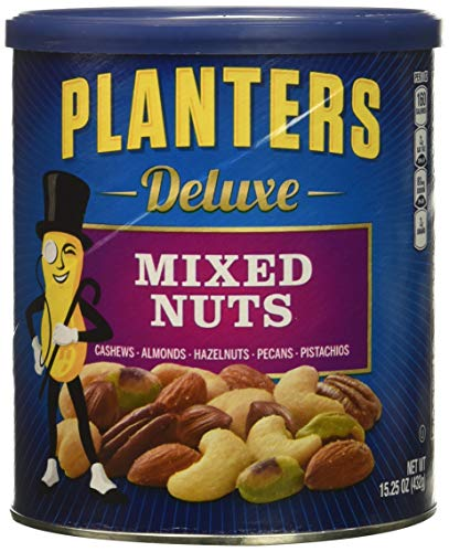 Planters Deluxe Mixed Nuts, 15.25 Ounce Canister