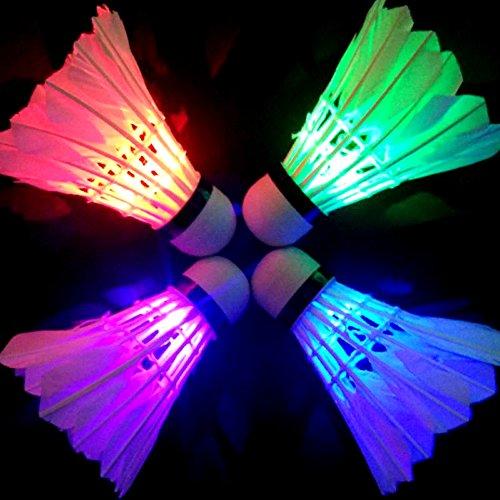 4Pcs Colorful LED Shuttlecock Badminton - 1