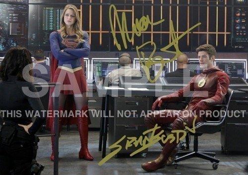 Supergirl TV Show Print Melissa Benoist Grant Gustin Cast