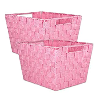 Laundry basket plastic pink do it yourselfore dii durable trapezoid woven nylon storage bin or basket for organizing your home office solutioingenieria Image collections