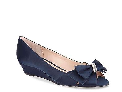 Nina Frauen Peep Toe Hochzeitsschuhe Sandalen Mit Keilabsatz Blau