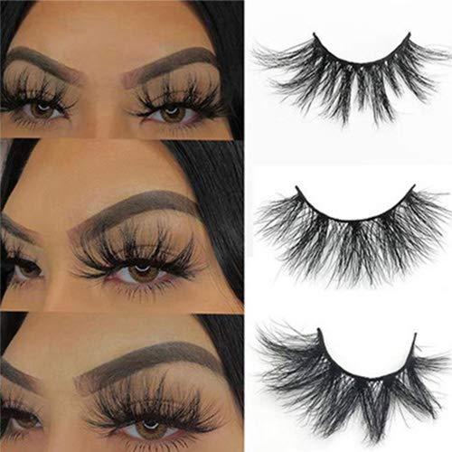 SWINGINGHAIR 3D Mink Eyelashes, 25mm Mink Lashes Dramatic Mink Eyelashes 3 Styles False Eyelashes Handmade Strips…
