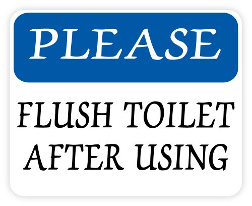 Please flush toilet after using sign sticker decal 5