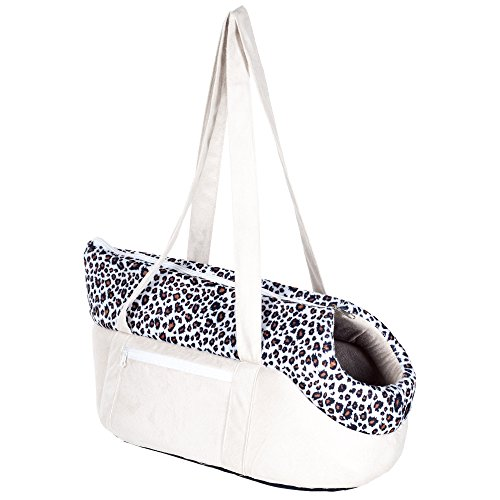 PETMAKER Cozy Cat Travel Soft Sided Pet Carrier, Tan/Leopard