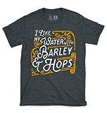 10oz apparel I Like My Beer Dark Heather T Shirt XL