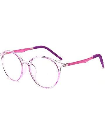 Jungen M/ädchen Anti blaulicht Anti Rutsch Brillen Anti UV TR90 Brillengestell das Auge des Kindes Sch/ützen Brille Brillen ohne Grad