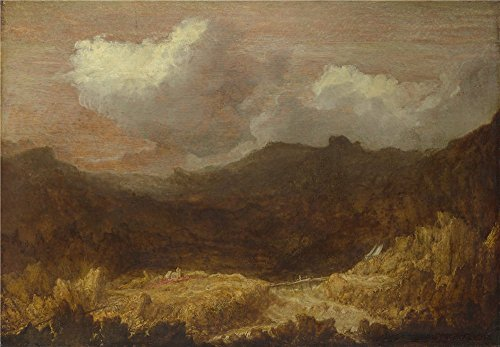 ['Imitator Of Hercules Segers A Mountainous Landscape ' Oil Painting, 10 X 14 Inch / 25 X 37 Cm ,printed On Perfect Effect Canvas ,this Best Price Art Decorative Prints On Canvas Is Perfectly Suitalbe For Kids Room Decor And Home Gallery Art And] (Hercules Costumes Ideas)