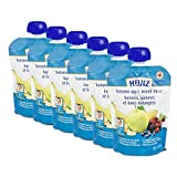 HEINZ Strained Banana, Apple & Mixed Berry Pouch, 6 Pack, 128ML Each