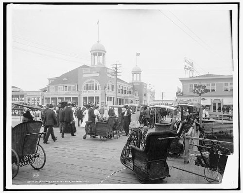Photo: Boardwalk,Steel Pier,Atlantic City,New Jersey,NJ,Detroit Publishing - Ancestry.co.uk