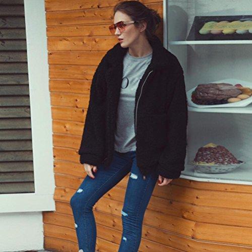 Fourrure Fausse Noir Hiver Oversize Parka Femme blouson Outwear Manteau Veste Overdose REwB5a