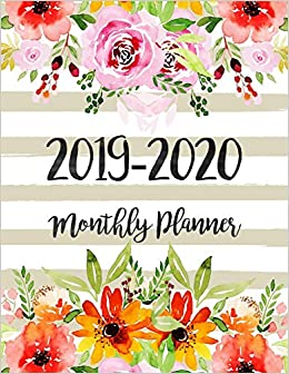 December 2020 Calendar Cut 2019 2020 Monthly Planner: Two Year   Monthly Calendar Planner